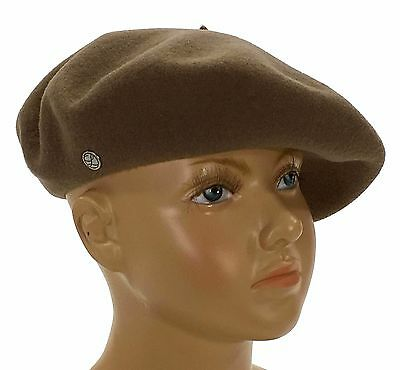 Laulhere French Wool Beret Children Paris 9 Taupe Made In France