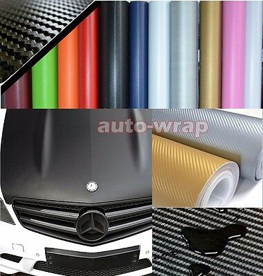 All the Wrap - Hot PVC Car 3D Carbon Fiber Vinyl Sticker Film Decal 10 Colors BO