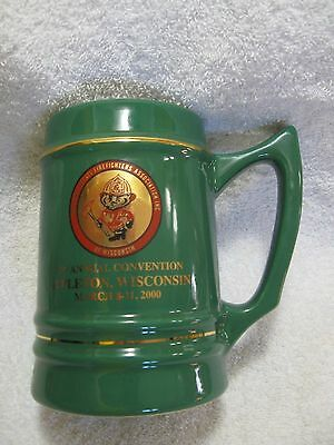 WISCONSIN STATE FIREFIGHTERS ASSOC. Commemorative Stein-Appleton,WI-Collectible!