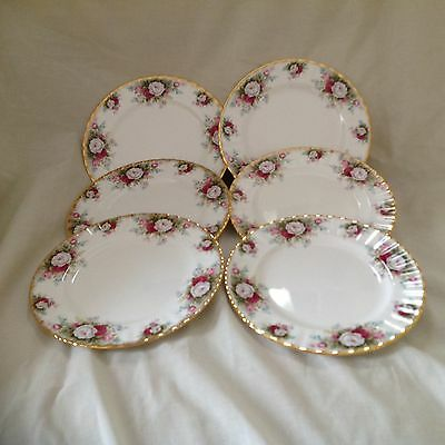 "6 X Royal Albert Celebration 8"" Plates Excellent Condition"