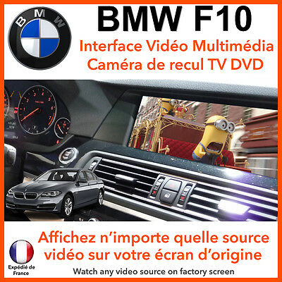BMW F10 Série 5 (2012 - 2015) interface vidéo multimédia TV DVD camera de recul