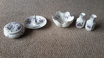 "Aynsley ""Wild Violets""  Fine Bone China - Selection - Excellent Condition"