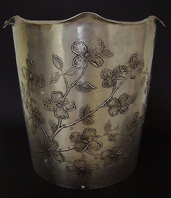WENDELL AUGUST FORGE Handmade Waste Basket DOGWOOD Flowers - Very Scarce
