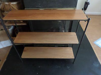 Longaberger Wrought Iron Book Case Shelving Stand With 3 Shelves