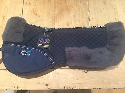 Premier Equine Merino Wool Half Pad Full Size Brand New With Tags BNWT Navy/grey
