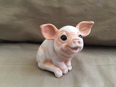 Vintage Enesco Kathy Wise Pig Figurine Porcelain Collectible