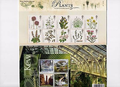 2009 Action for Species 'Plants' Presentation Pack 427 MNH, less than face v
