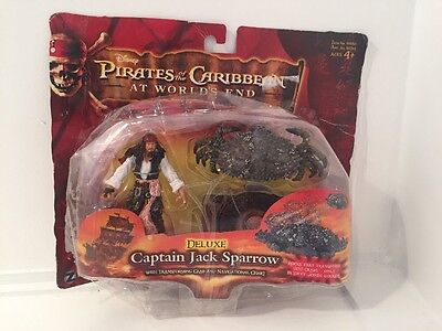 Captain Jack Sparrow Action Figure Crab PVC Toy Pirates of the Caribbean