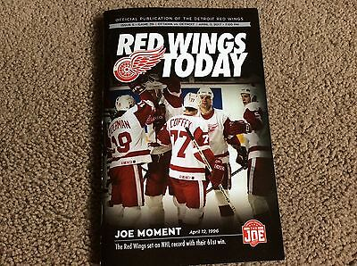 Ottawa Senators @ Detroit Red Wings NHL programme 3rd April 2017