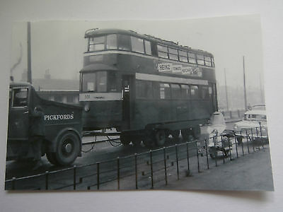 Pickfords Tow Truck With Tram ##2 - Postcard Size Photo - Location Unknown