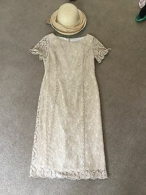 Artigiano Mother Of The Bride Beige Lace Dress Size 12