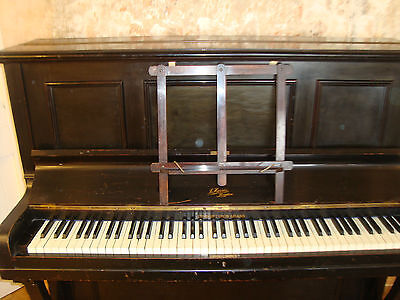 Upright Iron Grand Piano  J.harris London Numbered 8191 Collection Only