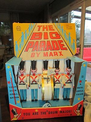 Marx Toys The Big Parade Boxed,Battery Operated Vintage Toy