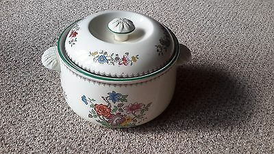 Spode Chinese Rose Covered Casserole Dish / Pot Imperial Cookware Stone China