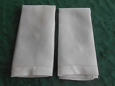 2 Light Pink Linen Towels With An Open Embroidered Hem, Circa 1920
