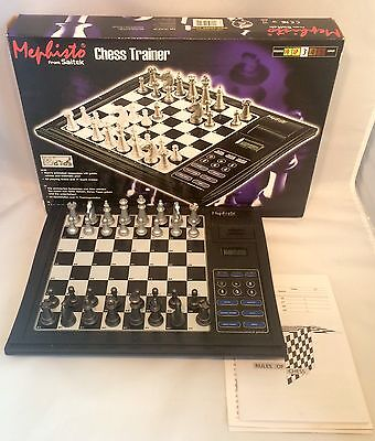 Saitek Mephisto Electronic Chess Trainer Computer with Box Tested and Working