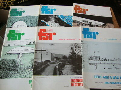 #11 Flying Saucer Review FSR Magazine x 6 Issues Full Year Vol 25 1979 UFO