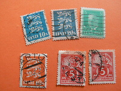 A Lot of 6 Mixed ESTONIA Stamps. 1 Double.