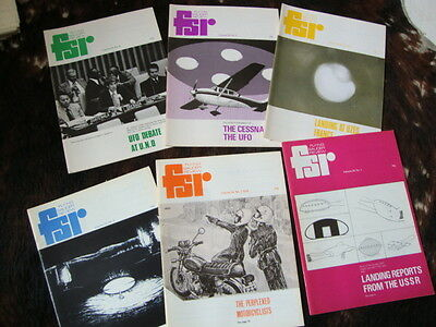 #10 Flying Saucer Review FSR Magazine x 6 Issues Full Year Vol 24 1978 UFO