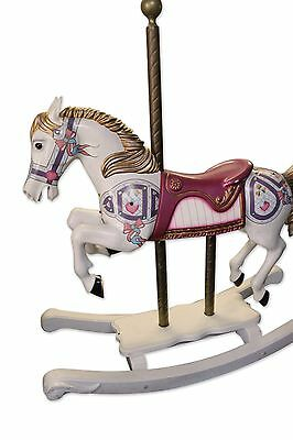 Antique jeweled wooden carousel rocking horse - Diana Ross