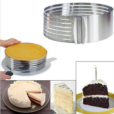 Cake Round Cutter Slicer Stainless Steel Adjustable Mold Baking Pastry Tools Set