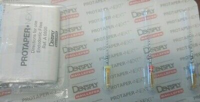 Dentsply Tulsa Protaper Next X1-X3 25 mm Assorted Files Endodontic Dental