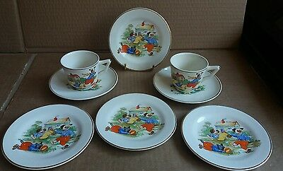 Staffs children's part tea set Plex St.Tunstall 8 pieces