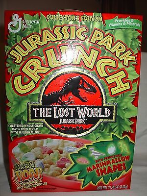 Jurassic Park Crunch 1997 collector empty box.  The Lost World.