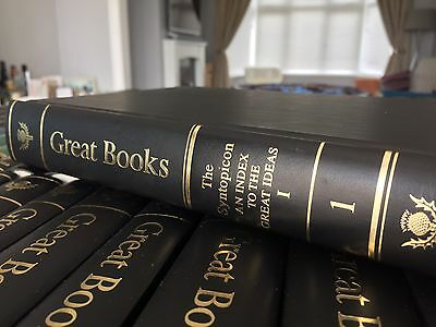 Great Books Of The Western World Complete Collection 60 Leather Bound Hard Back