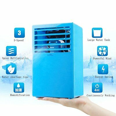 Mini Portable Air Circulator Conditioner Cooling Evaporative Table Quiet Fan