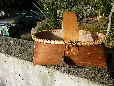 "Vintage,native American,,birch Bark Basket, Athabascan,""alaskan Native"""