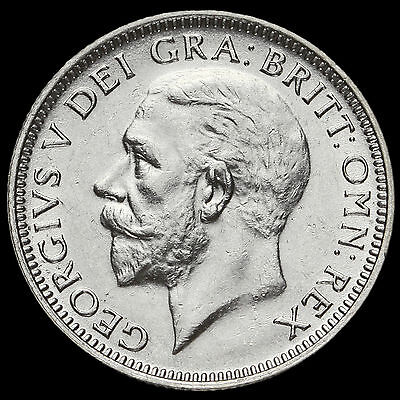 1927 George V Silver Shilling, Third Coinage, Scarce, G/EF