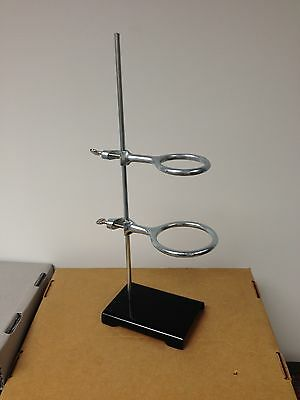 "Lab Ring Stand Steel  4x6 w/ 3""& 4"", United Scientific Supplies"