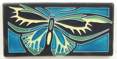 Arts and Crafts Motawi 8x4 Alexandra Tile in Turquoise