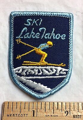 Ski Lake Tahoe Skiing Souvenir Embroidered Patch Badge