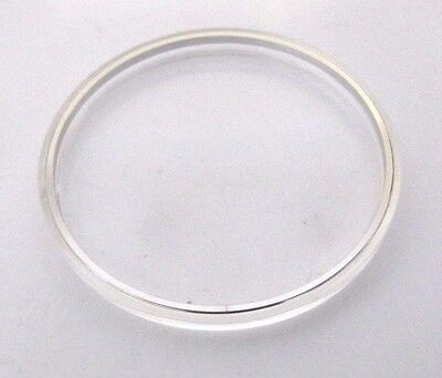 OMEGA, original Glas 36,6mm mit Chromring , NEU aus Lagerbestand, swiss made
