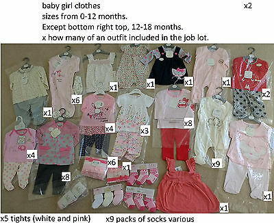 Baby Bundle Job Lot Girl Clothing worth £368.68 Closing Down