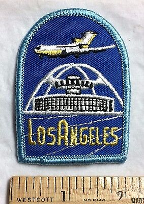 Los Angeles Airport LAX California Souvenir Embroidered Patch Badge