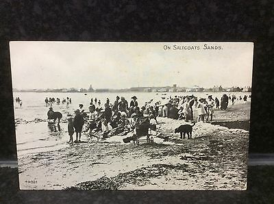 428. On Saltcoats Sands Postcard