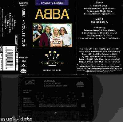 ABBA - Voulez Vous/Summer Night City ★  MC Single Musikkassette *RAR