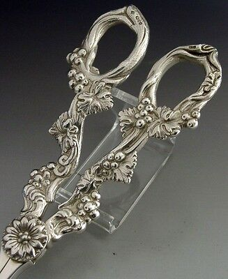 Rare Superb Asprey Solid Sterling Silver English Grape Shears 1997