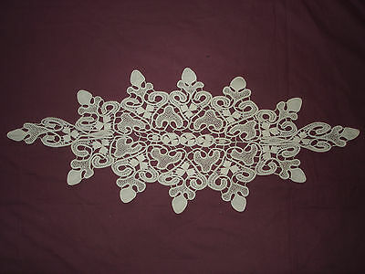 #860  Beautiful Vintage Handmade  Lace Motif       22''/11.5''(63cm/29cm)