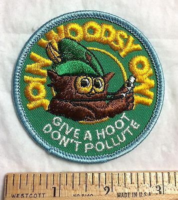 Join Woodsy Owl Give A Hoot Don't Pollute Souvenir Patch