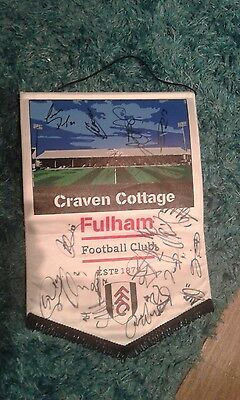 fulham football club signed pennant