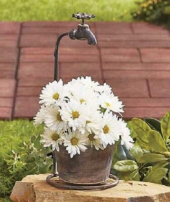 Rustic style Faucet Planter Flower Pot Garden Decor