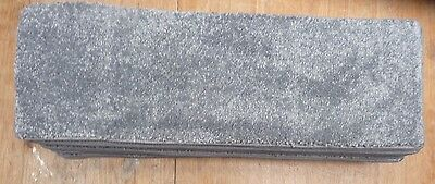 12x STAIR PADS / TREADS GREY COLOUR LUXURY QUALITY  SOFT PILE  BN CHEAP #3177