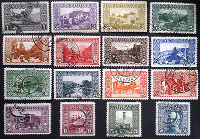 Bosnia and Herzegovina 1906 full used set Sc. #30 - 45