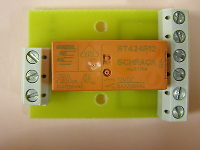 Model Railway 2 Coil Latch Relays On Pcb With Screw  Connectors For Signals Etc.