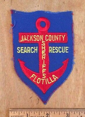 Jackson County Sheriffs Flotilla Search & Rescue Patch Badge Mississippi MS