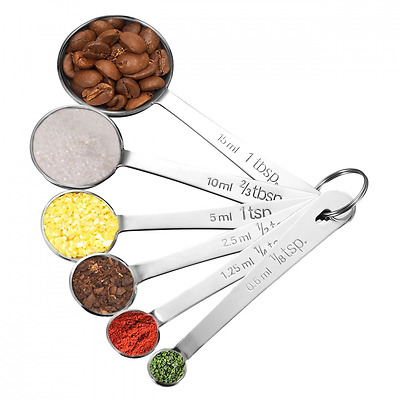 Measuring Spoons, Pictek Tablespoon Measuring Spoons, Set of 6 Stainless Steel S